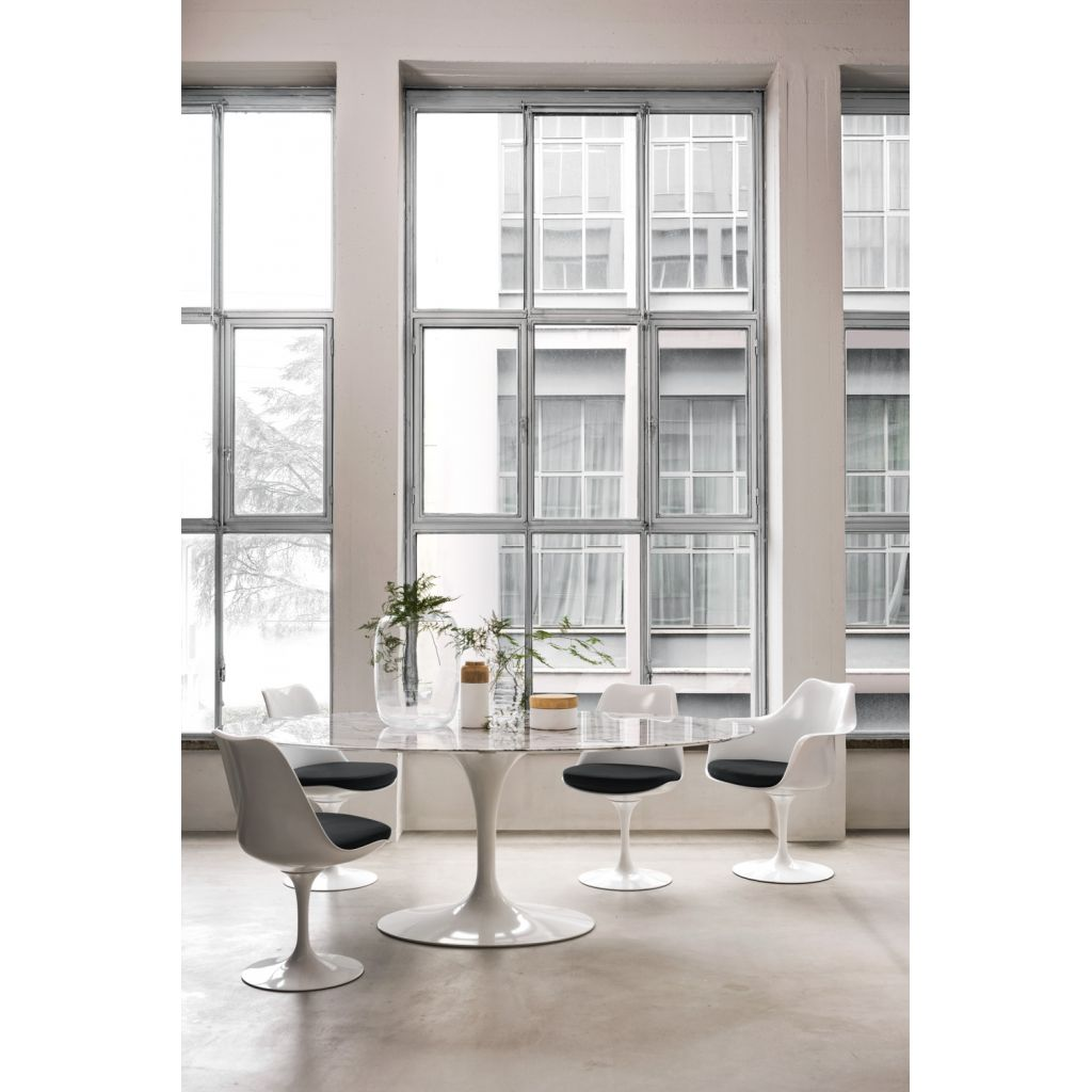 Oval Tulip Table Marble Knoll Replica Eero Saarinen