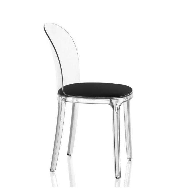 Chaise Vanity Transparente avec Coussin - Magis