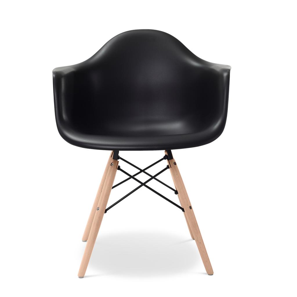 Plastiek daw stoel reproductie eames vitra goedkoop for Eames stoel zwart