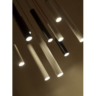 Tubular Pendant Light Black or White