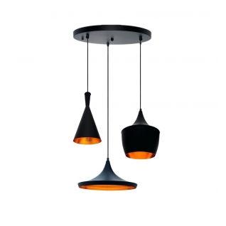 BEAT LAMP Hangsysteem met meerdere lampekappen - Tom Dixon