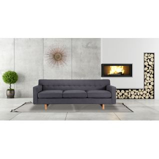 3-seater Giulia fabric sofa
