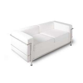 Canapé LC2 design cuir 2 places 'Loveseat'