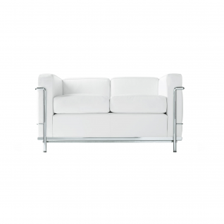 Leather Sofa 2 seater 'Loveseat Sofa' - LC2 inspiration