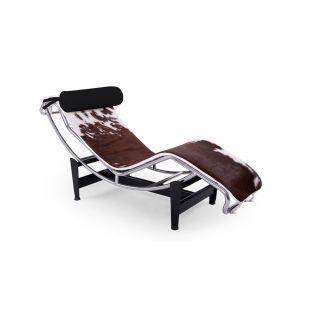 Design Stoel LC4 koehuid 'Loung Chair Pony' Fidelity