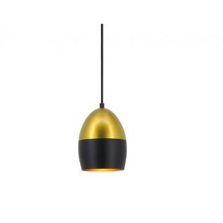 Suspension boule noire et doré