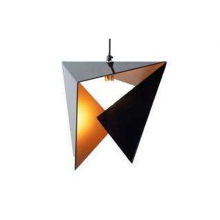 Stealth Driehoek Hanglamp Zwart & goud