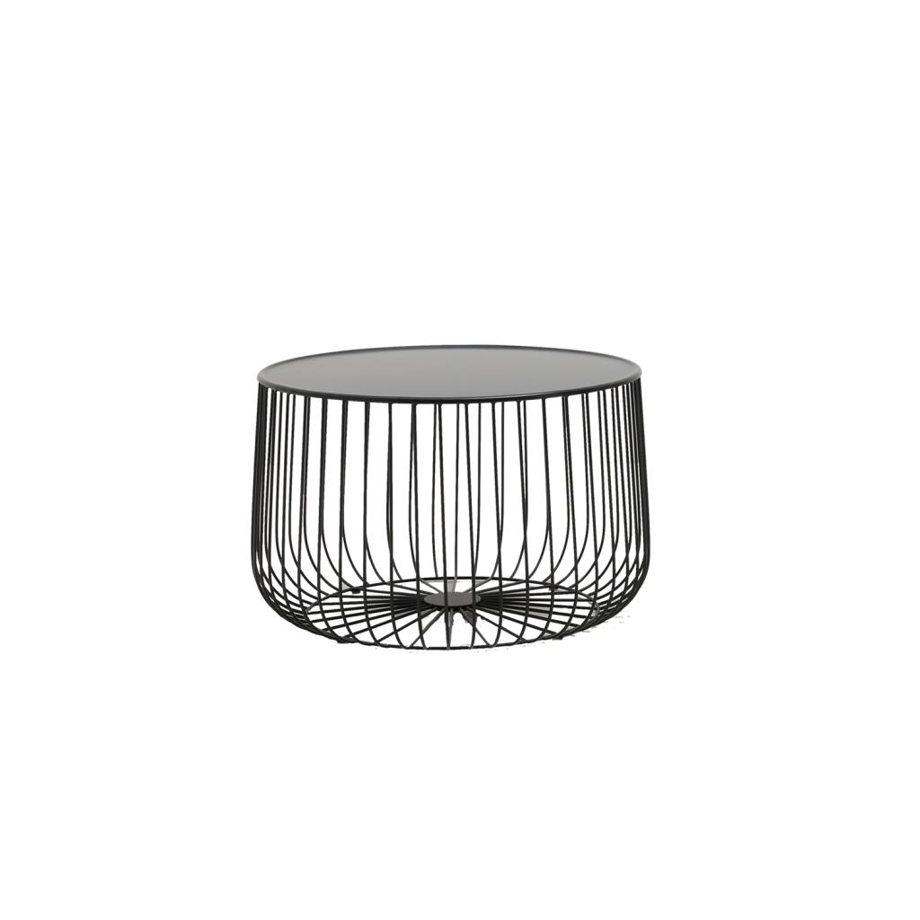 table basse ronde tendance lady en m tal noir ou dor. Black Bedroom Furniture Sets. Home Design Ideas
