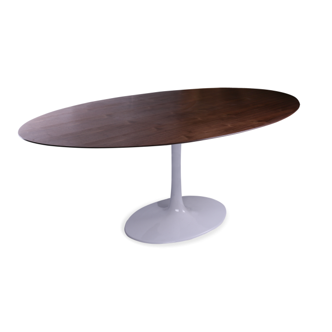 Ovaal hout Tafel Tulipe - Eero Saarinen & Knoll Inspiratie