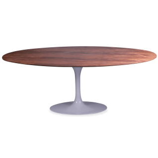 Oval Tulip Table wood knoll - Eero Saarinen & Knoll Inspiration