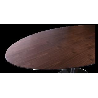 Oval Tulip Table wood knoll - Eero Saarinen & Knoll Inspiration
