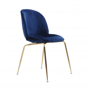 Velvet Bettle chair - Gubi inspiration