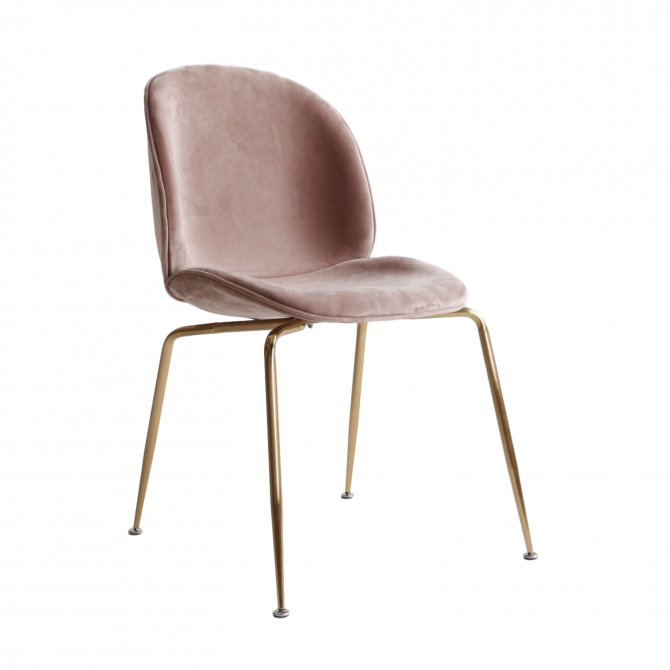 Chaise Bettle en velours - Inspiration Gubi