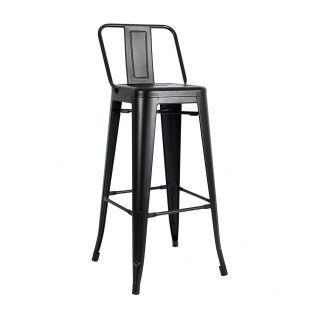 Tolix bar stool with backrest - Retro Café Tolix H80 H90