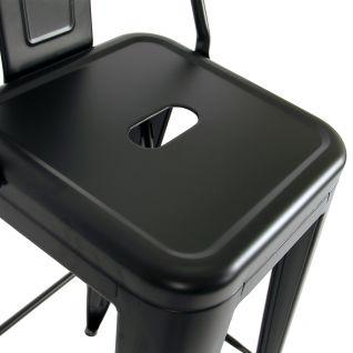 Tabouret TOLIX avec dossier - Café Rétro Tolix H80 H90