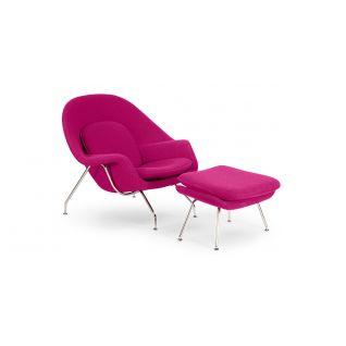 Womb armchair with Ottoman - inspiration Eero Saarinen