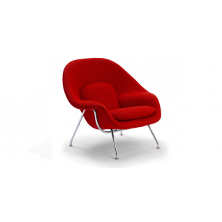 Womb armchair with Ottoman - inspiration Eero Saarinen