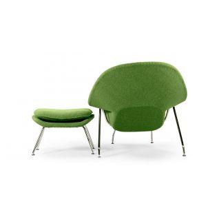 Zetel Womb met Voetbank - Inspiration Eero Saarinen