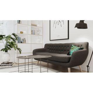 Alice three-seater fabric sofa