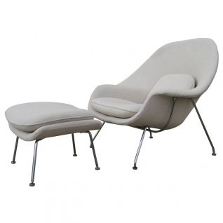 Womb armchair with Ottoman