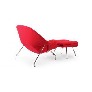 Fauteuil Womb avec Ottoman - Inspiration Eero Saarinen
