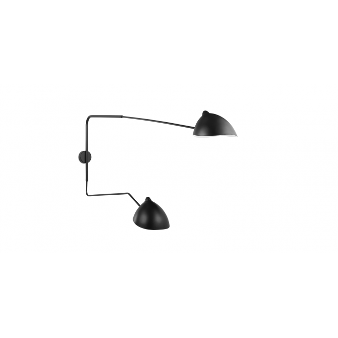 Wall lamp 2 arms - Serge Mouille Inspiration