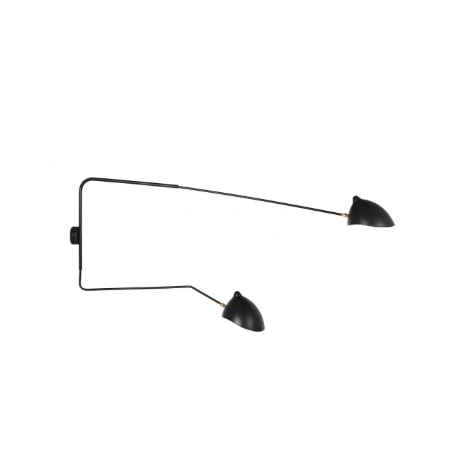 Wandlamp 2 armen - Serge Mouille Inspiratie
