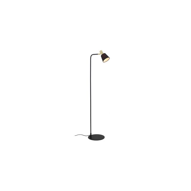 Black and Brass Floorlamp Victoria