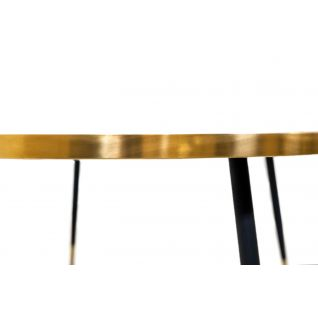 Bethan GrayRound Marble and Brass Band Coffee Table
