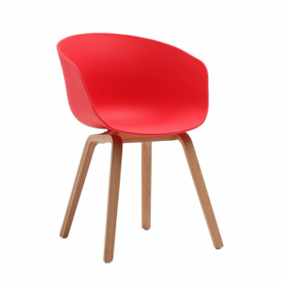 "Chaise HAY ""About A Chair AAC22"" Rouge"