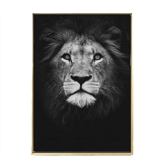 Posters d'animaux sauvages en noir et blanc