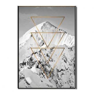 Posters montagnes géométriques doré