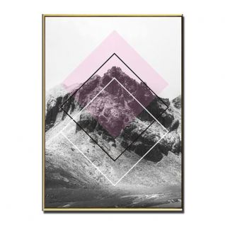 Gold geometric mountain posters