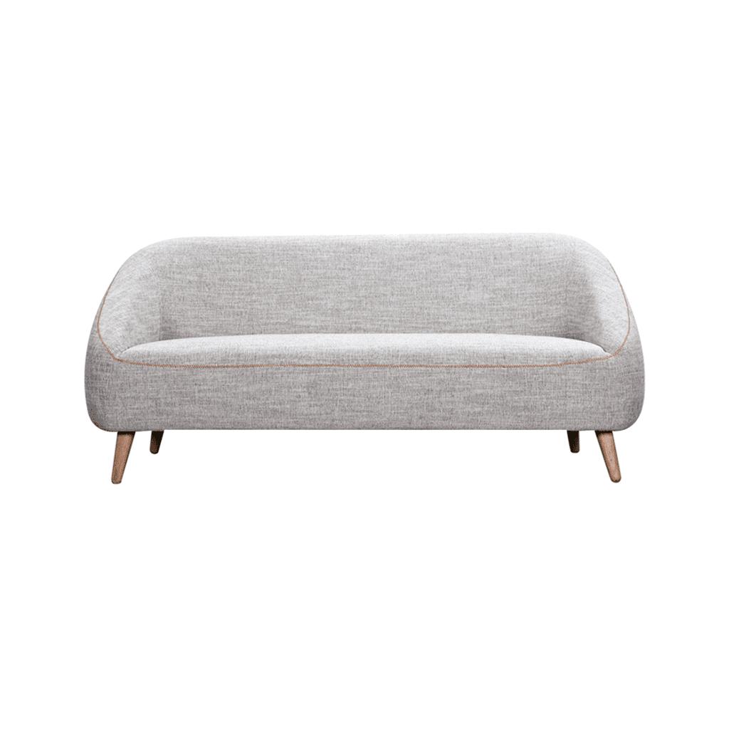 Bonnie 3 Seater Sofa Grey Fabric