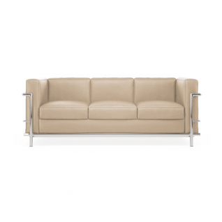 Canapé cuir 3 places 'Grand Sofa' -  Inspiration LC2