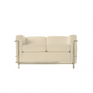 Canapé LC2 design cuir 2 places 'Loveseat'