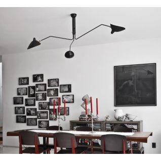 Drie koppige Serge Mouille Hanglamp