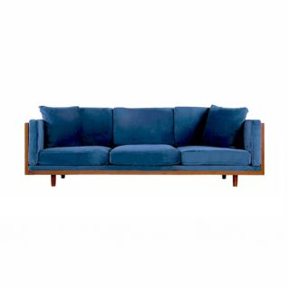 3 seaters velvet sofa James