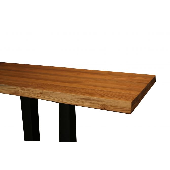 Table de restaurant rectangulaire en bois - Karina