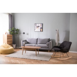 Jones 3-seater fabric sofa