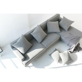 Canapé d'angle en tissu Aiden