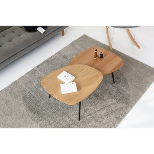 Koffietafel van hout en metaal - Alphonsa