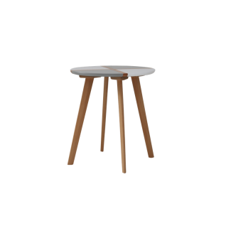 Table basse ronde en bois - Lucina