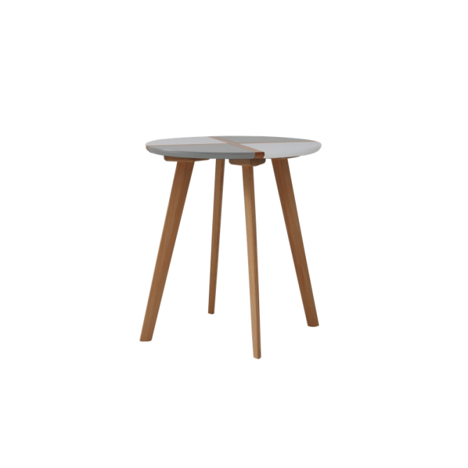 Ronde Koffietafel van hout - Lucina