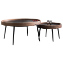 Wooden and metal trundle table - Atlas