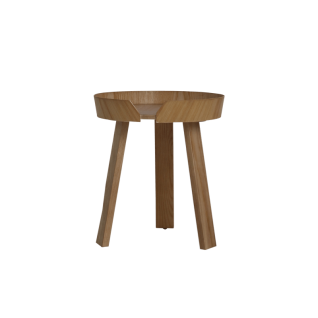 Round Wooden Side Table - Zowa
