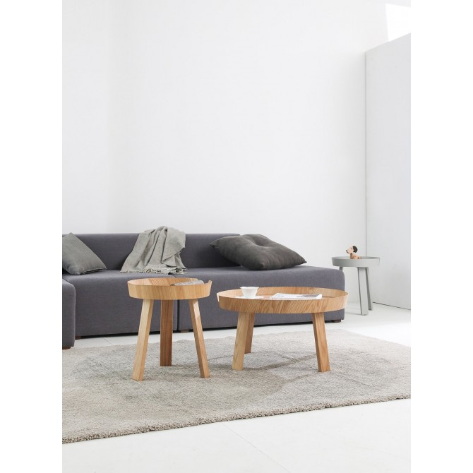 Round Wooden Side Table - Zola