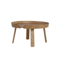 Round Wooden Low Table - Sowa