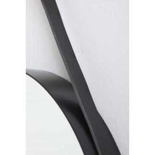 Round metal wallmirror