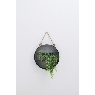 Round metal wallmirror